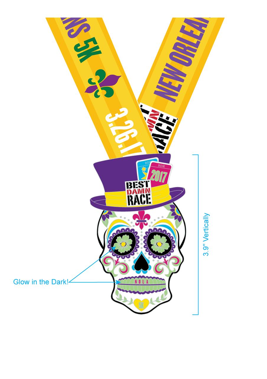 5K Medal - New Orleans 2017 - Best Damn Race