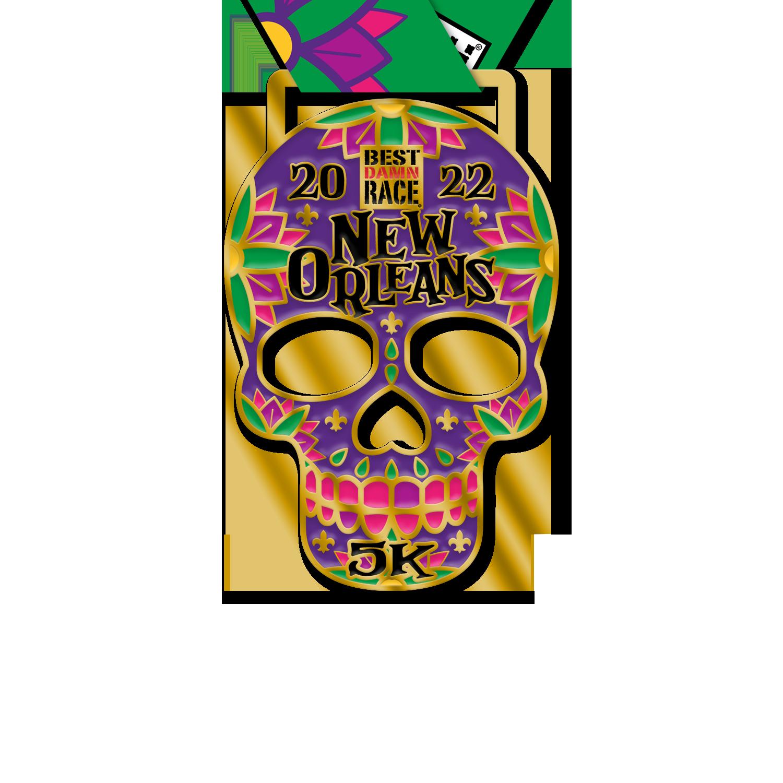 New Orleans - Best Damn Race - 5K Medal
